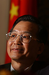 Wen Jiabao, Prime Minister of China, during the China - EU Summit in Brussels, Belgium, on Wednesday, May 5, 2004. (Photo © Jock Fistick)