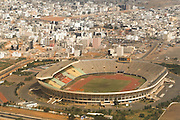 Aerial view of the stade Leopold Sedar Senghor stadium in Dakar, Senegal.
