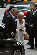 Barbara Walters an guest arrives at the Walter Cronkite funeral at The St. Bartholomew Church on July 23, 2009 in New York City