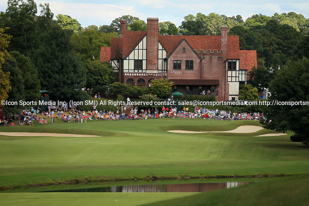 September 22, 2013: A general view of the clubhouse at the 9th green in the final round of the FedEx Cup - The Tour Championship at East Lake Golf Club in Atlanta, Georgia.