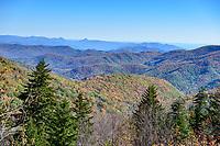 Blue Ridge mountains along the Blue Ridge Parkway, near Asheville, NC.