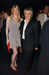 Musician NICK RHODES and MEREDITH OSTROM at a private screening of 'Sketches of Frank Gehry in association with jewellers Tiffany held at the Curzon Cinema, Mayfair on 10th May 2006 followed by a party at Nobu Mayfair, Berkeley Street.<br />