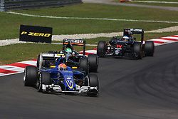 Felipe Nasr (BRA) Sauber C35.<br /> 02.10.2016. Formula 1 World Championship, Rd 16, Malaysian Grand Prix, Sepang, Malaysia, Sunday.<br /> Copyright: Photo4 / XPB Images / action press