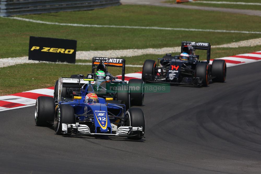 Felipe Nasr (BRA) Sauber C35.<br /> 02.10.2016. Formula 1 World Championship, Rd 16, Malaysian Grand Prix, Sepang, Malaysia, Sunday.<br /> Copyright: Photo4 / XPB Images / action press