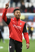 Rotherham United midfielder Grant Ward during the Sky Bet Championship match between Rotherham United and Wolverhampton Wanderers at the New York Stadium, Rotherham, England on 5 December 2015. Photo by Ian Lyall.