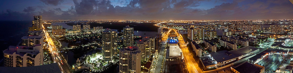Sunny Isles Fl after sunset.