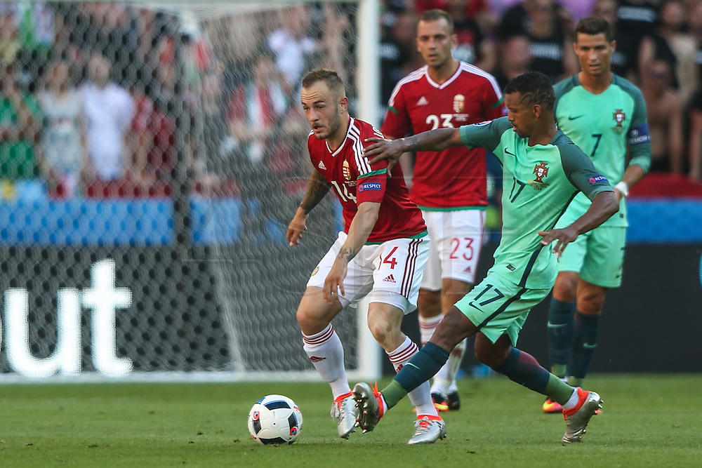 Portugal Nani during the match against Hungary valid for F European Championship Group 2016 in Stade des Lumières in Lyon, France, on Wednesday.