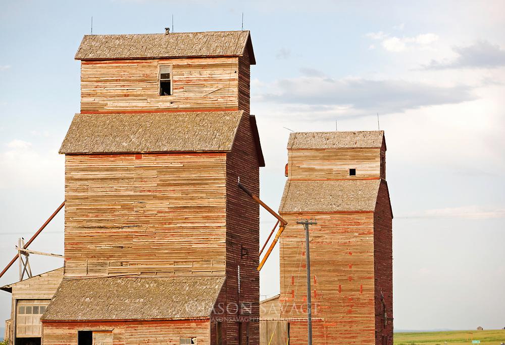 Grain Elevators near Lewistown, Montana.