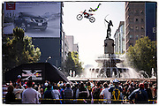 Maikel Melero performing at Red Bull X-Fighters Exhibition Mexico City, Reforma Avenue, 10th February 2013