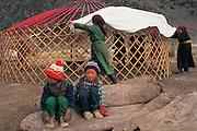 Erecting Ger<br /> Western Mongolia