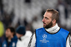 February 13, 2018 - Turin, Italy - Gonzalo Higuain of Juventus during the UEFA Champions League Round of 16 match between Juventus and Tottenham Hotspur at the Juventus Stadium, Turin, Italy on 13 February 2018. (Credit Image: © Giuseppe Maffia/NurPhoto via ZUMA Press)
