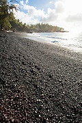 Kahena Black Sand Beach, Puna Coast, The Big Island of Hawaii