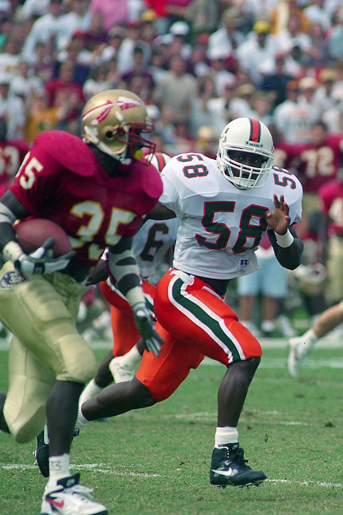 JC Ridley Photos / Caneshooter Archive<br /> <br /> 1993 Miami Hurricanes Football