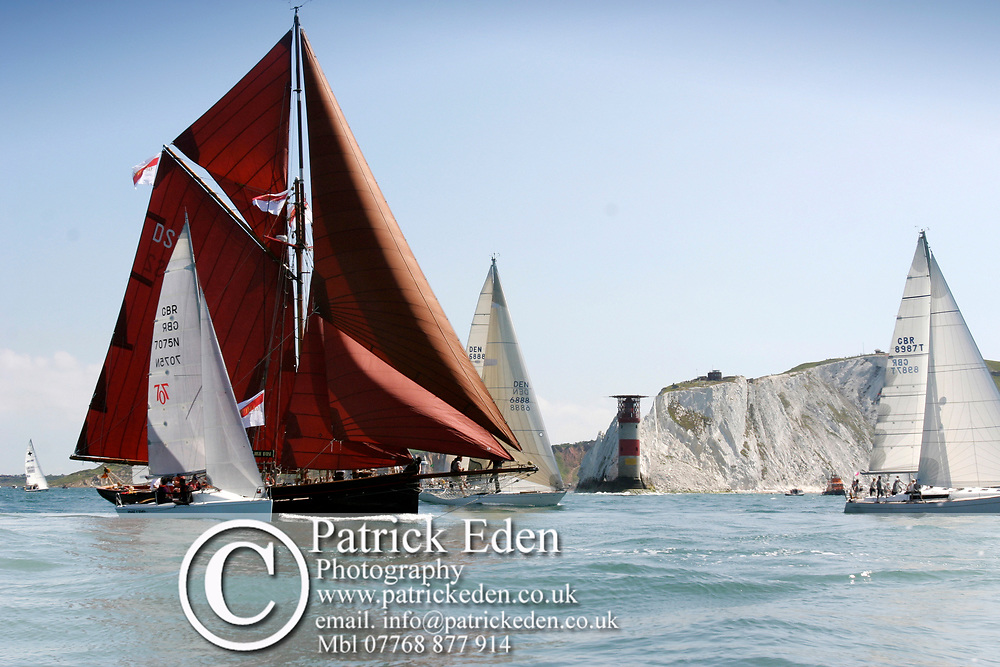 Jolie Brise, Round the island Race, 2005, Cowes, Isle of Wight, England, Sports Photography