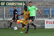 Forest Green Rovers Rendijs Kalnins on the ball during the Pre-Season Friendly match between Torquay United and Forest Green Rovers at Plainmoor, Torquay, England on 10 July 2018. Picture by Shane Healey.
