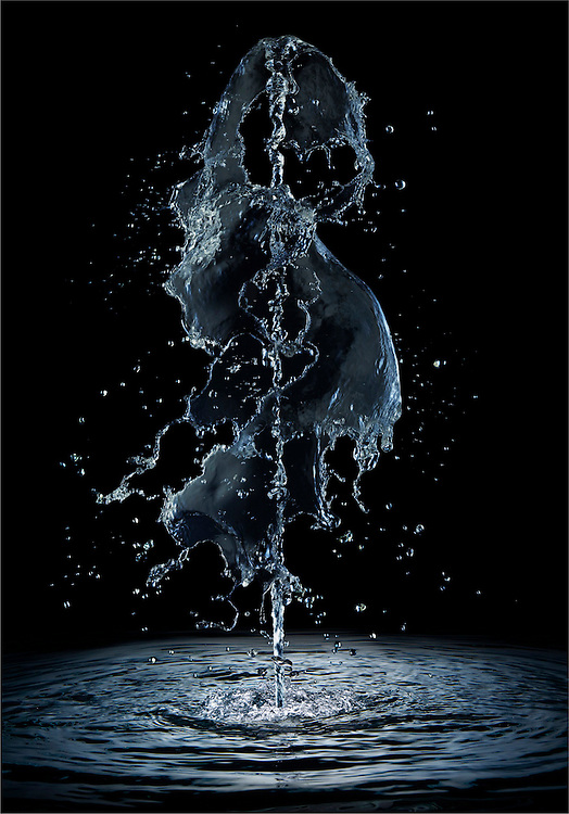 Fountain emerging from water surface Ray Massey is an established, award winning, UK professional  photographer, shooting creative advertising and editorial images from his stunning studio in a converted church in Camden Town, London NW1. Ray Massey specialises in drinks and liquids, still life and hands, product, gymnastics, special effects (sfx) and location photography. He is particularly known for dynamic high speed action shots of pours, bubbles, splashes and explosions in beers, champagnes, sodas, cocktails and beverages of all descriptions, as well as perfumes, paint, ink, water – even ice! Ray Massey works throughout the world with advertising agencies, designers, design groups, PR companies and directly with clients. He regularly manages the entire creative process, including post-production composition, manipulation and retouching, working with his team of retouchers to produce final images ready for publication.