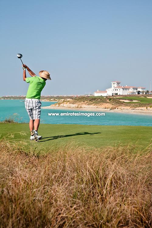 Yas Links golf course on Yas Island, Abu Dhabi