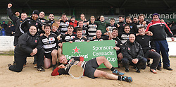 Ballinrobe RFC celebrating their Junior Plate win over Dunmore at the sportsground on sunday last.<br />
