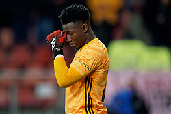 Andre Onana #24 of Ajax during the semi final KNVB Cup between FC Utrecht and Ajax Amsterdam at Stadion Nieuw Galgenwaard on March 04, 2020 in Amsterdam, Netherlands