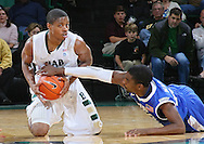 Dec 07, 2011; Birmingham, AL, USA;  Middle Tennessee Blue Raiders gourd Bruce Massey (13) reaches for the ball from UAB Blazers guard Quincy Taylor (25) at Bartow Arena. The Blazers defeated the Blue Raiders 66-56 Mandatory Credit: Marvin Gentry-
