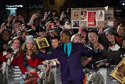 © licensed to London News Pictures. London, UK 10/01/2013. Jamie Foxx posing with his fans at the UK premiere of Django Unchained in Leicester Square, London. Photo credit: Tolga Akmen/LNP