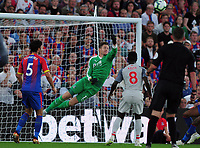 Football - 2018 / 2019 Premier League - Crystal Palace vs. Liverpool<br /> <br /> Crystal Palace goalkeeper, Wayne Hennessey punches clear, at Selhurst Park.<br /> <br /> COLORSPORT/ANDREW COWIE