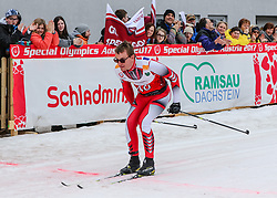 23.03.2017, Ramsau am Dachstein, AUT, Special Olympics 2017, Wintergames, Langlauf, Finale 500 m Freestyle, im Bild Thomas Rametshofer (AUT) // Thomas Rametshofer of Austria during the Cross Country Final 500 m Freestyle at the Special Olympics World Winter Games Austria 2017 in Ramsau am Dachstein, Austria on 2017/03/23. EXPA Pictures © 2017, PhotoCredit: EXPA / Martin Huber