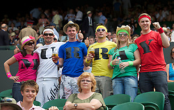 LONDON, ENGLAND - Wednesday, June 30, 2010: Andy Murray supporters during the Gentlemen's Singles Quarter-Final on day nine of the Wimbledon Lawn Tennis Championships at the All England Lawn Tennis and Croquet Club. (Pic by David Rawcliffe/Propaganda)