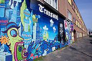 DEN HAAG - Probleemwijk, Transvaal. Graffiti in de Schalk Burgerstraat.  COPYRIGHT GERRIT DE HEUS