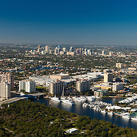 Aerial view of Fort Lauderdale and the intracoastal waterway.
