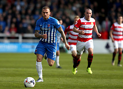 Lewis Alessandra of Hartlepool United runs with the ball - Mandatory by-line: Robbie Stephenson/JMP - 06/05/2017 - FOOTBALL - The Northern Gas and Power Stadium (Victoria Park) - Hartlepool, England - Hartlepool United v Doncaster Rovers - Sky Bet League Two