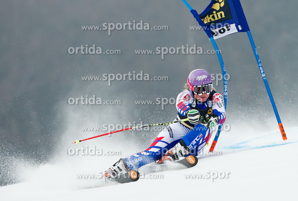 """WORLEY Tessa of France competes during 1st Run of FIS Alpine Ski World Cup 7th Ladies' Giant Slalom race named """"49th Golden Fox 2013"""", on January 26, 2013 in Mariborsko Pohorje, Maribor, Slovenia. (Photo By Vid Ponikvar / Sportida.com)"""