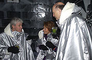 John Walsh, Lady Sally Oliver and Sir Michael Oliver. Opening of the Absolut Icebar. Heddon St. London. 29 September 2005. ONE TIME USE ONLY - DO NOT ARCHIVE © Copyright Photograph by Dafydd Jones 66 Stockwell Park Rd. London SW9 0DA Tel 020 7733 0108 www.dafjones.com
