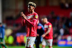 Lloyd Kelly of Bristol City applauds the fans after the final whistle  - Mandatory by-line: Ryan Hiscott/JMP - 28/09/2018 - FOOTBALL - Ashton Gate Stadium - Bristol, England - Bristol City v Aston Villa - Sky Bet Championship