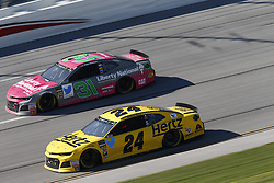 October 14, 2018 - Talladega, Alabama, United States of America - William Byron (24) battles for position during the 1000Bulbs.com 500 at Talladega Superspeedway in Talladega, Alabama. (Credit Image: © Justin R. Noe Asp Inc/ASP via ZUMA Wire)