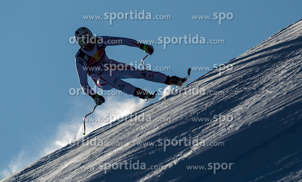 26.01.2013, Streif, Kitzbuehel, AUT, FIS Weltcup Ski Alpin, Abfahrt, Herren, im Bild  Romed Baumann (AUT) // Romed Baumann of Austria in action during mens Downhill of the FIS Ski Alpine World Cup at the Streif course, Kitzbuehel, Austria on 2013/01/26. EXPA Pictures © 2013, PhotoCredit: EXPA/ Juergen Feichter