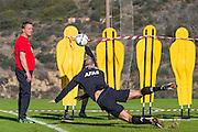 ESTEPONA - 08-01-2016, AZ in Spanje 8 januari, AZ trainer John van den Brom, AZ speler Ron Vlaar