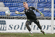 Rob Lainton (Bury) warming up before during the EFL Sky Bet League 1 match between Oldham Athletic and Bury at Boundary Park, Oldham, England on 11 March 2017. Photo by Mark P Doherty.