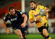 Dunedin-Rugby, Highlanders V Hurricanes 21 March 2014