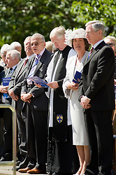 Freedom Parade 3rd Battalion The Yorkshire Regiment Barnsley South Yorkshire Legendry Cricket Umpire Dickie Bird (Fourth from Right) was amongst the dignitaries watching the parade  22 June 2010 .Images © Paul David Drabble.
