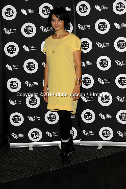 """Amrita Acharia attends the Gala Screening of """"Birds Eye View"""" at BFI, Southbank,  London, United Kingdom. Tuesday, 8th April 2014. Picture by Chris Joseph / i-Images"""
