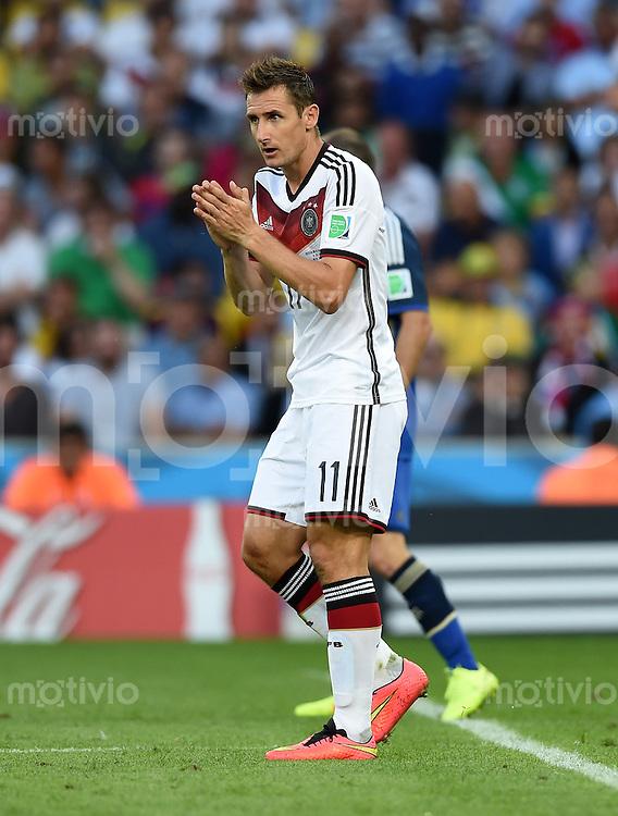 FUSSBALL WM 2014                FINALE Deutschland - Argentinien     13.07.2014 Miroslav Klose (Deutschland)