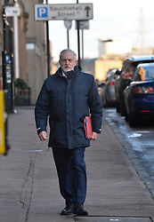 Labour leader Jeremy Corbyn arrives for the Labour NEC meeting in Glasgow on Sunday.<br /> <br /> <br /> © Dave Johnston/ EEm