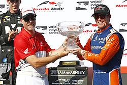 July 15, 2018 - Toronto, Ontario, Canada - SCOTT DIXON (9) of New Zealand wins the Honda Indy Toronto at Streets of Toronto in Toronto, Ontario. (Credit Image: © Justin R. Noe Asp Inc/ASP via ZUMA Wire)