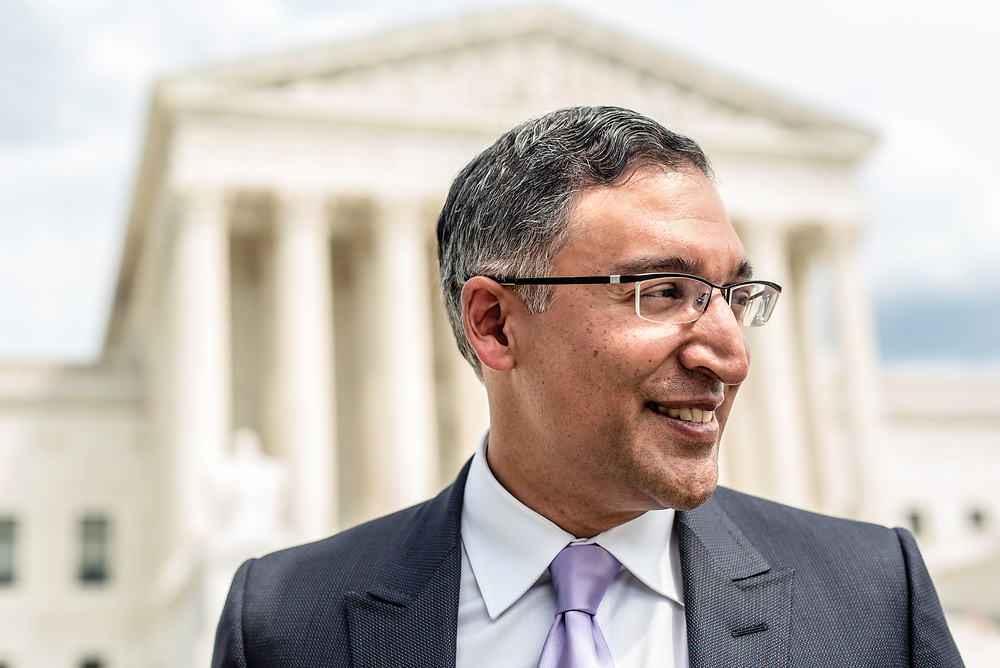 WASHINGTON, DC -- 8/10/17 -- Supreme Court lawyer Neal Katyal is one of the leading attorneys for the state of Hawaii as they fight President Trump's travel ban. Katyal, now an attorney with Hogan Lovells, and former Acting Solicitor General, has argued more cases before the Supreme Court, 34, than any other minority attorney except Thurgood Marshall, with whom he's currently tied..…by André Chung #_AC14003