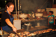 Preparing some of the food for the Preview Party for the 41st annual Oktoberfest at the Dayton Art Institute, Friday, September 21, 2012.