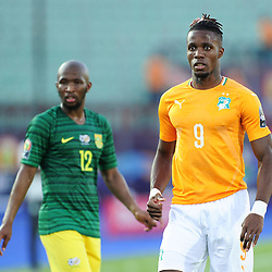 Wilfried Zaha of Ivory Coast during the 2019 Africa Cup of Nations Finals game between Ivory Coast and South Africa at Al Salam Stadium in Cairo, Egypt on 24 June 2019  <br /> Photo : Icon Sport