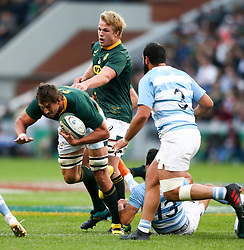 Durban. 180818. Eben Etzebeth of South Africa  during the Rugby Championship match between South Africa and Argentina at Jonsson Kings Park in Durban, South Africa. Picture Leon Lestrade. African News Agency/ANA