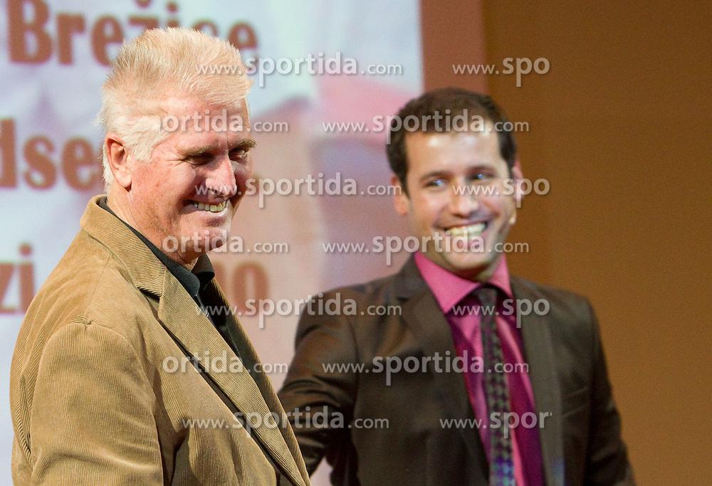 Leopold Erik Rovan and Peter Poles during the Slovenia's Athlete of the year award ceremony by Slovenian Athletics Federation AZS, on November 12, 2008 in Hotel Mons, Ljubljana, Slovenia.(Photo By Vid Ponikvar / Sportida.com) , on November 12, 2010.