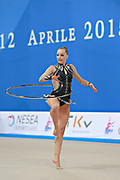 Bogdanova Olga during qualifying at hoop in Pesaro World Cup 10 April 2015.<br />